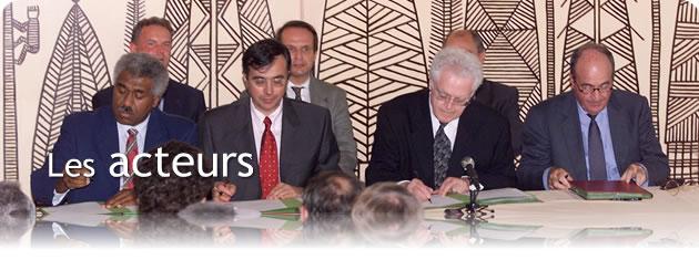Signataires de l'Accord de Nouméa